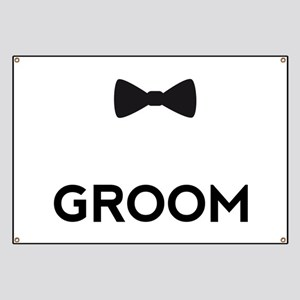 Groom with bow tie Banner