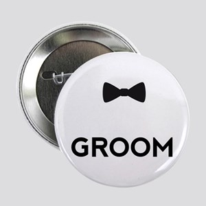 "Groom with bow tie 2.25"" Button"