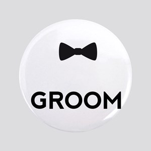 """Groom with bow tie 3.5"""" Button"""