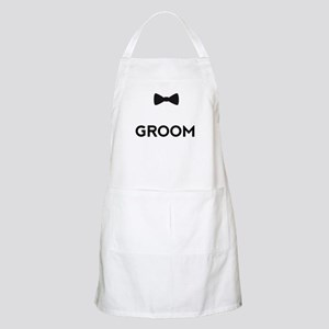 Groom with bow tie Apron