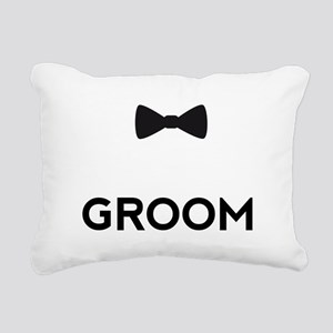 Groom with bow tie Rectangular Canvas Pillow