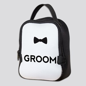 Groom with bow tie Neoprene Lunch Bag
