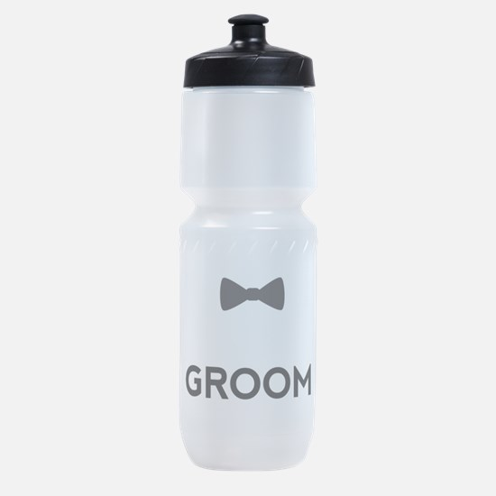 Groom with bow tie Sports Bottle