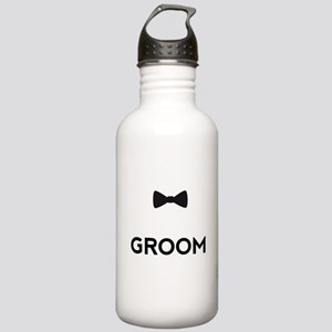 Groom with bow tie Water Bottle