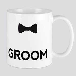 Groom with bow tie Mugs
