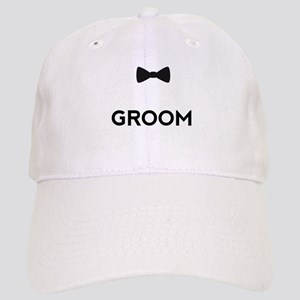 a5991a6ee32 Groom with bow tie Baseball Cap