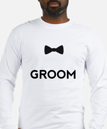 Groom with bow tie Long Sleeve T-Shirt