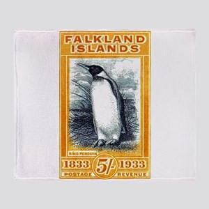 1933 Falkland Islands Penguin Postage Stamp Throw