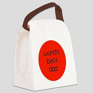 World's Best Dad Canvas Lunch Bag
