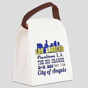 LA Nicknames of Los Angeles Canvas Lunch Bag