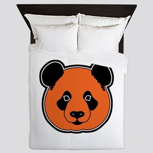 panda head 11 Queen Duvet