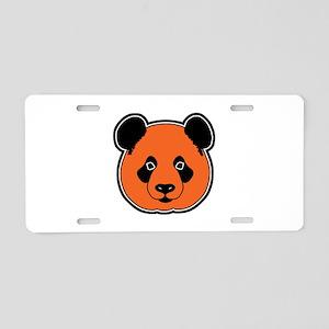 panda head 11 Aluminum License Plate
