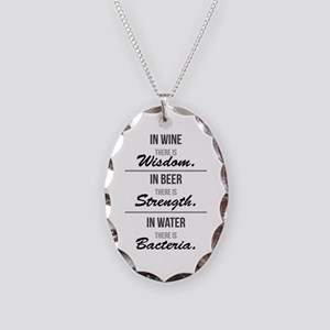 Wisdom, Strength & Bacteria Necklace Oval Charm