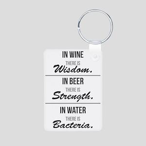 Wisdom, Strength & Bacteri Aluminum Photo Keychain