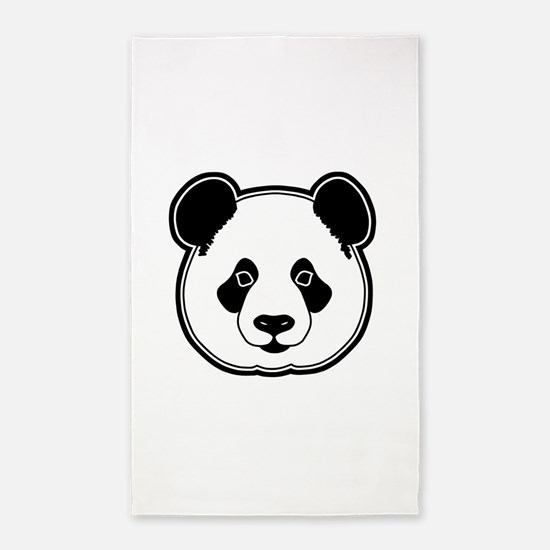 panda head 13 3'x5' Area Rug