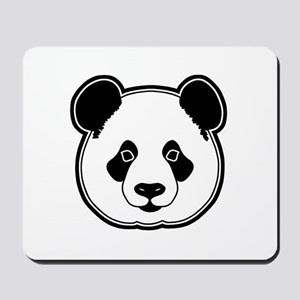 panda head 13 Mousepad