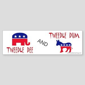 Tweedle Dee and Dum Bumper Sticker