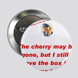"""Jenny on the job cherry 2.25"""" Button (10 pack)"""