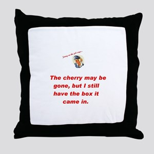 Jenny on the job cherry Throw Pillow
