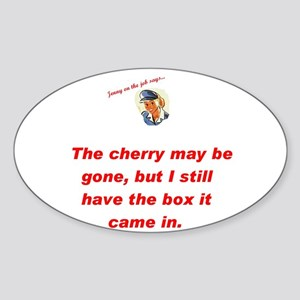 Jenny on the job cherry Oval Sticker