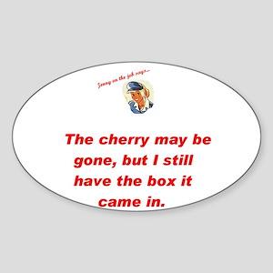 Jenny on the job cherry Oval Sticker