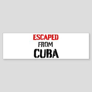 Escaped From Cuba Bumper Sticker
