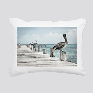 Pelicans Rectangular Canvas Pillow
