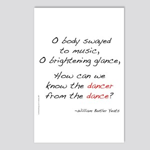 Yeats On Dance Postcards (Package of 8)
