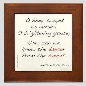 Yeats On Dance Framed Tile