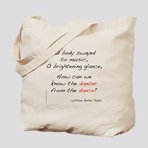 Yeats On Dance Tote Bag