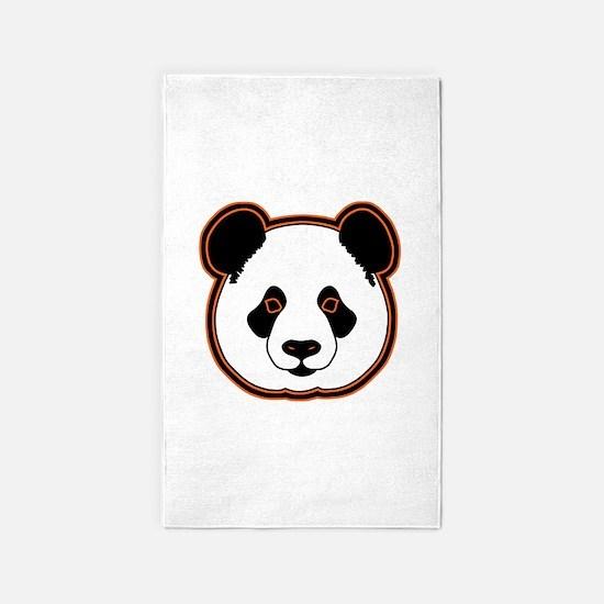 panda head 15 3'x5' Area Rug