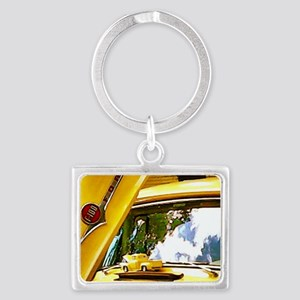 Vintage Yellow Ford F10 Landscape Keychain