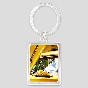 Vintage Yellow Ford F10 Portrait Keychain