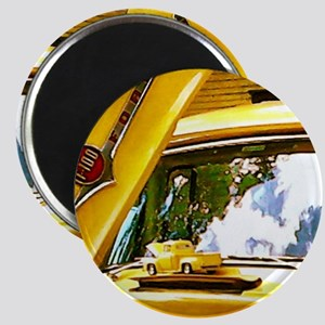 Vintage Yellow Ford F10 Magnet