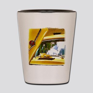 Vintage Yellow Ford F10 Shot Glass