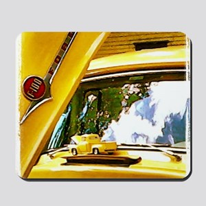 Vintage Yellow Ford F10 Mousepad