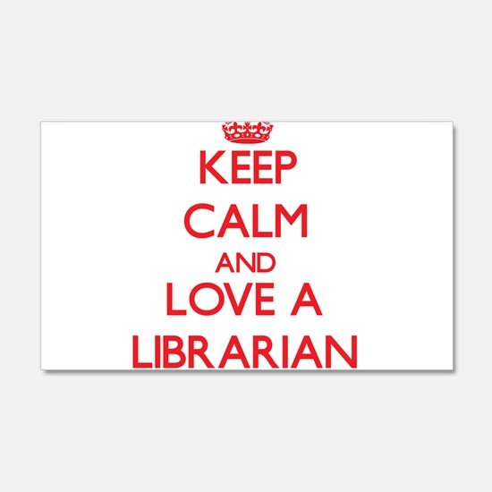 Keep Calm and Love a Librarian Wall Decal