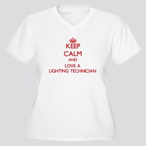 Keep Calm and Love a Lighting Technician Plus Size