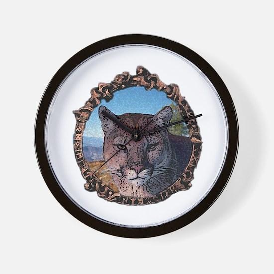 Mountain lion hunter Wall Clock