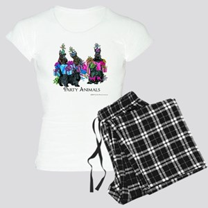 Scottish Terrier Party Anim Women's Light Pajamas