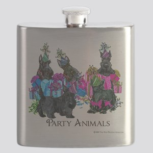 Scottish Terrier Party Animals Flask