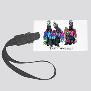 Scottish Terrier Party Animals Large Luggage Tag