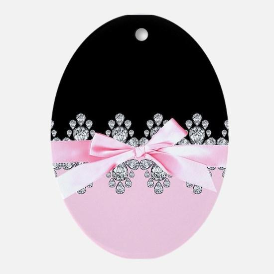 Diamond Delilah Oval Ornament