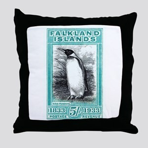 1933 Falkland Islands Penguin Postage Stamp Throw