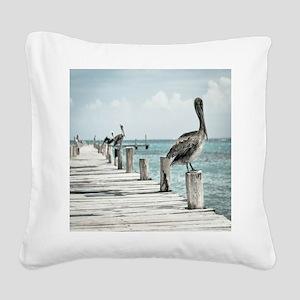 Pelicans Square Canvas Pillow