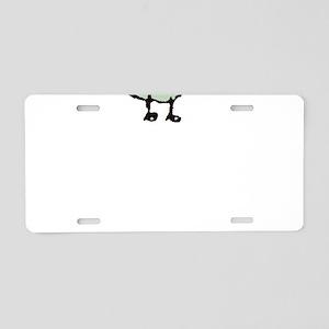 Happy Dog Aluminum License Plate