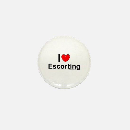 Escorting Mini Button