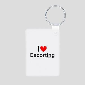 Escorting Aluminum Photo Keychain