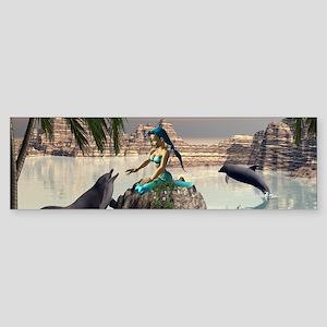 Beautiful mermaid Bumper Sticker