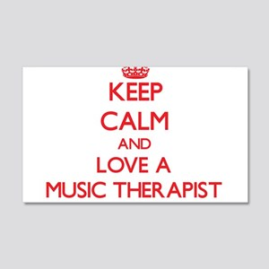 Keep Calm and Love a Music Therapist Wall Decal